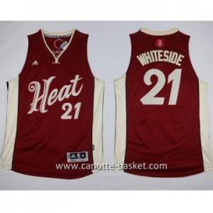 Maglie bambino Miami Heat Hassan Whiteside #21 rosso