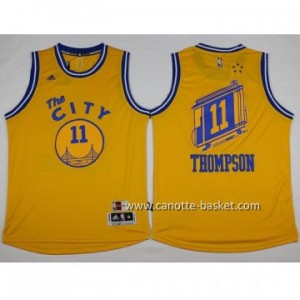 Maglie nba Golden State Warriors The CITY Klay Thompson #11 giallo