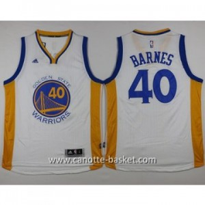 nuovo Maglie nba Golden State Warriors Harrison Barnes #40 bianco