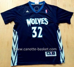 nuovo Maglie nba Minnesota Timberwolves Karl-Anthony Towns #32 nero manica lunga