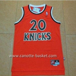 Maglie nba New York Knicks Allan Houston #20 arancione