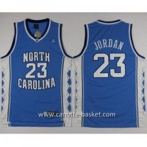 Maglie nba NCAA University of North Carolina Michael Jordan #23 blu
