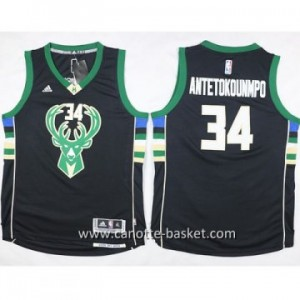 Maglie nba bambino Milwaukee Bucks Giannis Antetokounmpo #34 nero