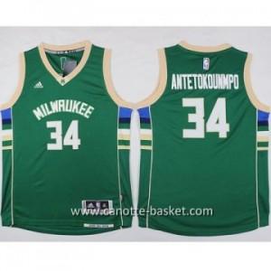 Maglie nba bambino Milwaukee Bucks Giannis Antetokounmpo #34 verde