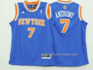 Maglie nba bambino New York Knicks Carmelo Anthony #7 blu