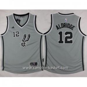 Maglie nba bambino San Antonio Spurs LaMarcus Aldridge #12 grigio