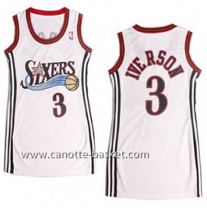Maglie nba Donna Philadelphia 76ers Allen Iverson #3 bianco