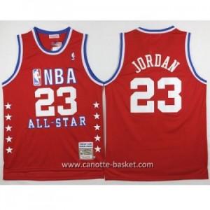 Maglie 1988-89 All-Star Michael Jordan #23 rosso classico commemorative Edition