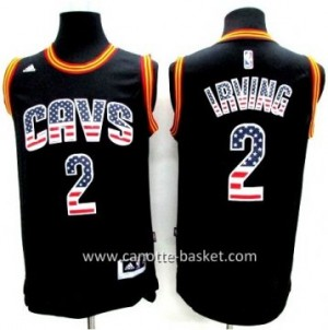 Maglie nba Cleveland Cavalier Kyrie Irving # 2 Flag Edition