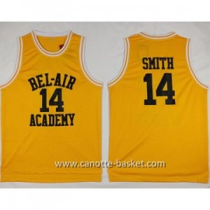 Maglie BEL-AIR ACADEMY SMITH #14 giallo