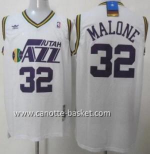 Maglie nba Utah Jazz Karl Malone #32 bianco