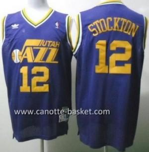 Maglie nba Utah Jazz John Stockton #12 porpora
