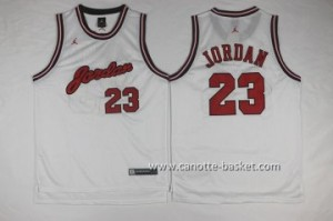 Maglie nba Michael Jordan #23 bianco commemorative Edition