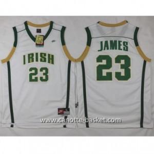 Maglie nba NCAA Scuola superiore LeBron James #23 bianco