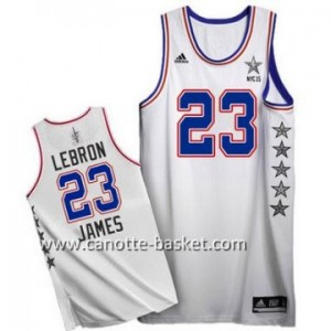 Maglie 2015 All-Star LeBron James #23 bianco