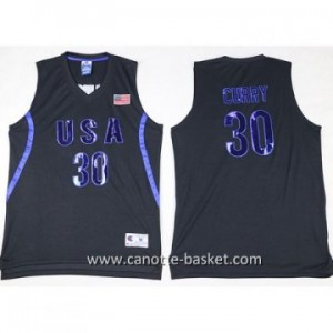 maglie basket 2016 USA Stephen Curry #30 nero