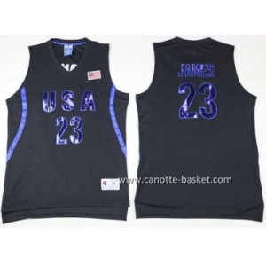 maglie basket 2016 USA LeBron James #23 nero