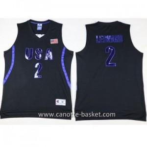 maglie basket 2016 USA Kawhi Leonard #2 nero