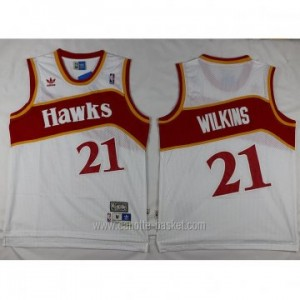 Maglie nba Atlanta Hawks Dominique Wilkins #21 bianco