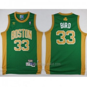 Maglie nba Boston Celtics Larry Bird #33 verde parola d'oro