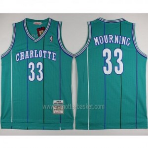 Maglie nba Charlotte Hornet Alonzo Mourning #33 blue Lake