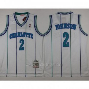 Maglie nba Charlotte Hornet Larry Johnson #2 bianco