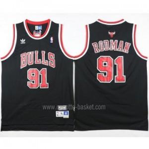 Maglie nba Chicago Bulls Dennis Rodman #91 nero