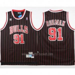 Maglie nba Chicago Bulls Dennis Rodman #91 striscia rosso nero