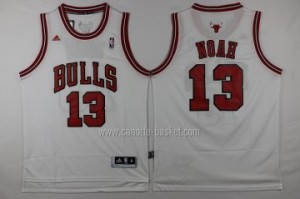 Maglie nba Chicago Bulls Joakim Noah #13 bianco