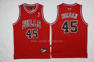 Maglie nba Chicago Bulls Michael Jordan #45 rosso