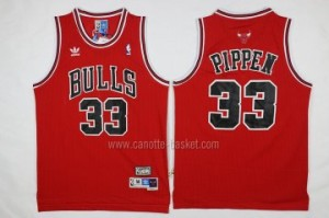 Maglie nba Chicago Bulls Scottie Pippen #33 rosso