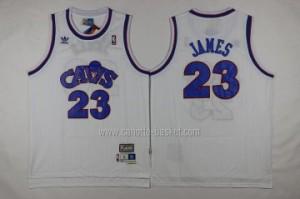 Maglie nba Cleveland Cavalier LeBron James #23 Retro bianco