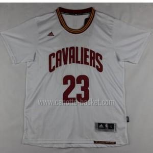 Maglie nba Cleveland Cavalier LeBron James #23 manica corta nuovi tessuti