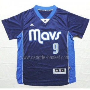 Maglie nba Dallas Mavericks Rajon Rondo #9 blu manica corta