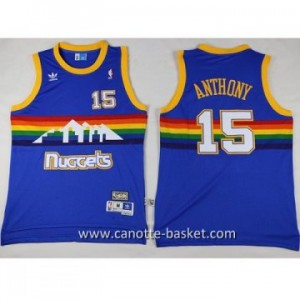 Maglie nba Denver Nuggets Carmelo Anthony #15 blu
