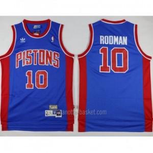 Maglie nba Detroit Pistons blu Dennis Rodman #10