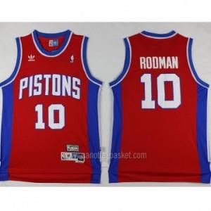 Maglie nba Detroit Pistons rosso Dennis Rodman #10