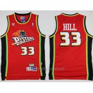 Maglie nba Detroit Pistons rosso Grant Hill #33