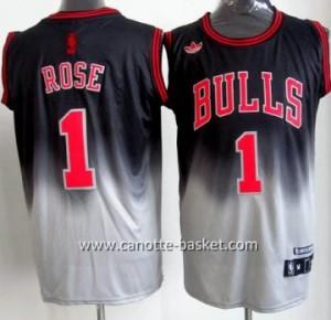 Maglie nba Chicago Bulls Derrick Rose # 1 Fadeaway Moda