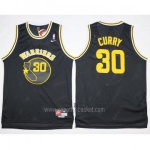 Maglie nba Golden State Warriors Stephen Curry #30 nero Retro
