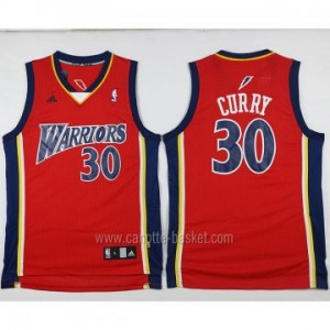 Maglie nba Golden State Warriors Stephen Curry #30 rosso recluta
