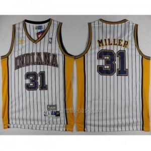 Maglie nba Indiana Pacers Reggie Miller #31 strisce bianco