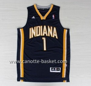 Maglie nba Indiana Pacers Lance Stephenson #1 blu marino
