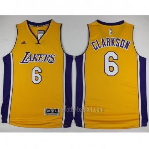 Maglie nba Los Angeles Lakers Jordan Clarkson #6 giallo 2016 stagione