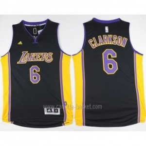 Maglie nba Los Angeles Lakers Jordan Clarkson #6 nero 2016 stagione