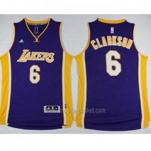 Maglie nba Los Angeles Lakers Jordan Clarkson #6 porpora 2016 stagione