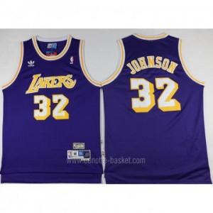 Maglie nba Los Angeles Lakers Magic Johnson #32 porpora