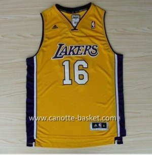 Maglie nba Los Angeles Lakers Pau Gasol #16 giallo