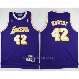 Maglie nba Los Angeles Lakers porpora James Worthy #42