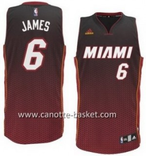 Maglie nba Miami Heat LeBron James #6 Resonate Fashion